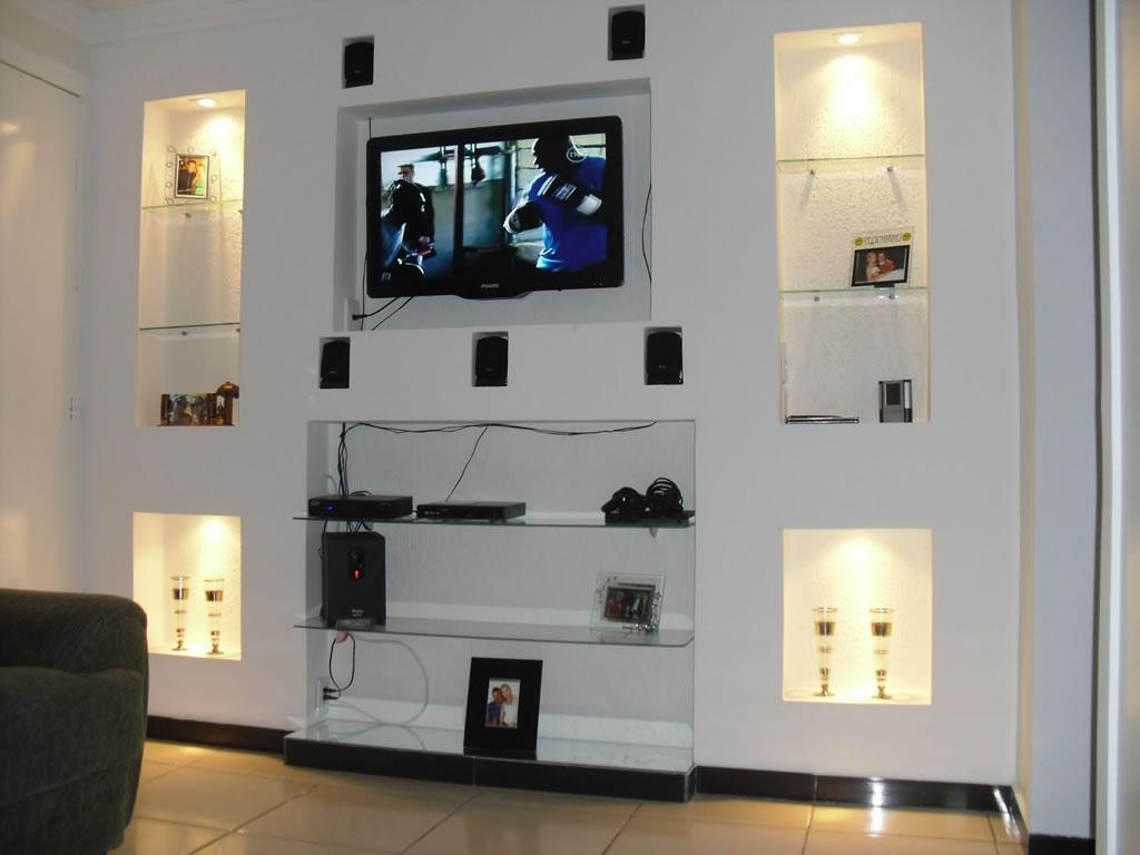 Estantes De Gesso Para Sala Fonte Freshome Como Separar Sala Em  -> Estante Gesso Sala Tv